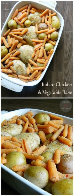 Italian Chicken  Vegetable Bake from only 5 ingredients!   www.thenymelrosefamily.com #chicken_recipe #weeknight_meal