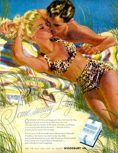 Some Sunny Day ~ Edwin Georgi illustration for Woodbury Soap ad.
