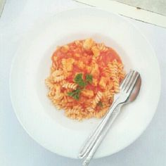 Fusilli with the spicy sauce!!! ^_^