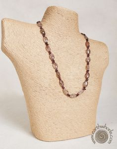 http://earthwhorls.com/product/heart-jewelry-rutilated-quartz-garnet-necklace/ - The beauty of stones - the sound of their song...