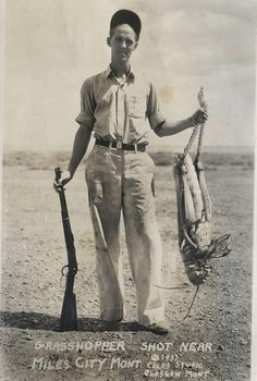 """Grasshopper shot near Miles City Mont 1937"""