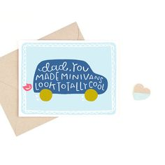Minivan Father's Day Card