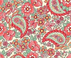 Custom For Emily Fabric Splurge Floral Fabric Peach White Paisley Paisley Fabric, Paisley Pattern, Floral Fabric, Paisley Print, Textile Fabrics, Embroidery Jewelry, Cool Fabric, Paisley Design, Paper Beads