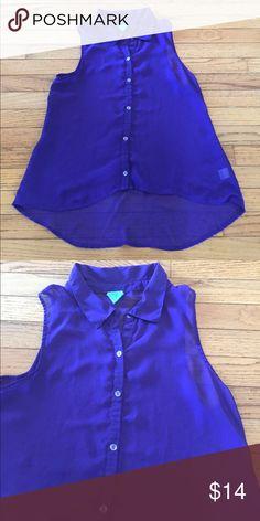 Purple Chiffon Sheer Tank Top Large Super cute purple Chiffon shirt! Sheer size large! Check out my closet too Tops Tank Tops