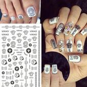 nails, You can collect images you discovered organize them, add your own ideas to your collections and share with other people. Solid Color Nails, Nail Colors, Acrylic Nails, Gel Nails, Designer, Versace, Types Of Nails, Nail Stickers, Natural Nails
