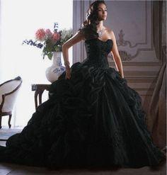 Black Sleeveless wedding dresses Ball Gown/Duchess bridal dress custom plus size