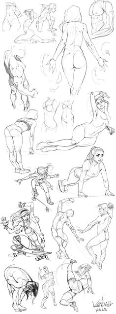 Anatomy Compilation 1 by KendallHaleArt Figure drawing Art Poses, Drawing Poses, Drawing Sketches, Art Drawings, Sketching, Anatomy Sketches, Figure Drawing Reference, Anatomy Reference, Human Figure Drawing