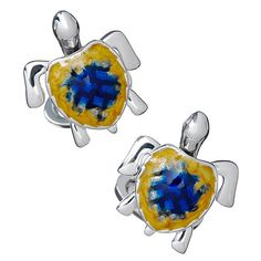 Enamel Moving Sea Turtle Cufflinks