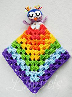 Rainbow Owl Lovie by Luvvels on Etsy, $30.00