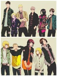 Attack on Titan characters, cool, outfits; Attack on Titan Armin, Mikasa, Levi X Eren, Levi Ackerman, Attack On Titan, Neko, Haikyuu, Boruto, Cartoon Network