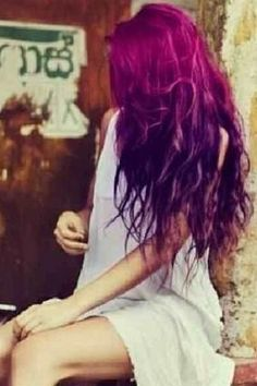 Purple Ombre Hair....kind of wish I could pull this off