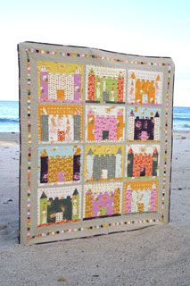 Chasing Cottons Sand Castle Quilt - Downloadable Pattern w/ Heather Ross fabrics