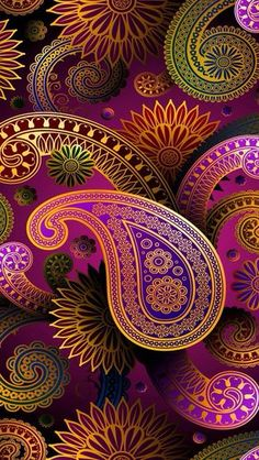 Paisley — nice designs that could be adapted to felt/wool embroidery. Pattern Paisley — nice designs that could be adapted to felt/wool embroidery. Mandala Art, Posca Art, Paisley Design, Paisley Art, Fractal Art, Sacred Geometry, Textures Patterns, Easy Patterns, Iphone Wallpaper