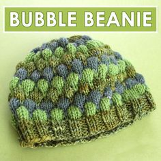 bb3dc93dd5f Bubble Beanie Hat with Free Pattern and Video Tutorial by Studio Knit   StudioKnit  knithat