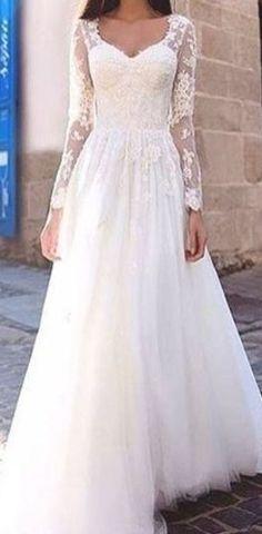 Cheap Bridal Dresses, Cheap Wedding Dresses Online, Country Wedding Dresses, Bohemian Wedding Dresses, Gorgeous Wedding Dress, Colored Wedding Dresses, Lace, Long Sleeve, Wedding Nail