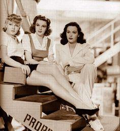 Lana Turner, Judy Garland and Hedy Lamarr in Ziegfeld Girl, 1941