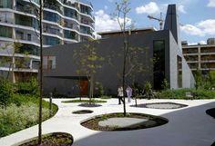 Boulogne Billancourt. 2014 Garden Heart of B4 Islandby TN Landscape Architect