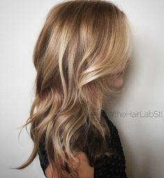 Light Brown And Golden Blonde Balayage Hair #BlondeHairstylesDark