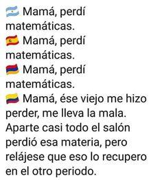 ARGENTINA: fooo maa la vieja chota hija de remil me hizo llevarme la materia Funny Spanish Memes, Spanish Humor, Crazy Funny Memes, Wtf Funny, Bff Images, Death Note Funny, Disney Facts, Really Funny, True Quotes