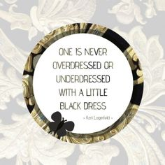 #Karl #Lagerfeld #chanel #fashion #lbd #littleblackdress #black