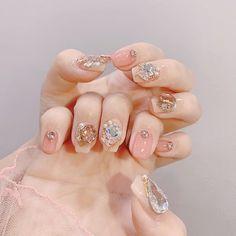 Luv Nails, Nails Now, Asian Nails, Korean Nail Art, Vacation Nails, Kawaii Nails, Wedding Nails Design, Luxury Nails, Diamond Nails