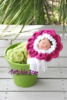 Newborn Flower Hat With Cocoon and by TwinkleStarPhotoProp on Etsy, $45.00