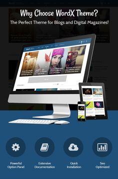 WordX - The Perfect #WordpressTheme for #Blogs and Digital #Magazines