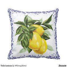 Toile Lemons Pillows