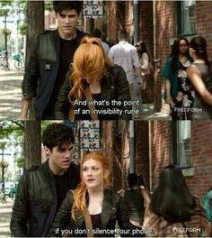 "#Shadowhunters 1x05 ""Moo Shu to Go"" - Alec and Clary I can never have enough of Alec and Clary sassing each other."
