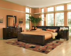 Colorful Wall In The Bedroom Ideas Orange Home Decorating Designs