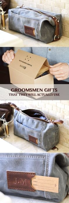 Looking for a groomsmen gift that they will actually love and use? Our functional dopp kits are not only made to last but could also be personalized. See more groomsmen gifts at Sivani Designs.