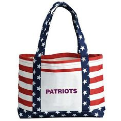 Promotional Patriotic Boat Polyester July 4th Tote Bag