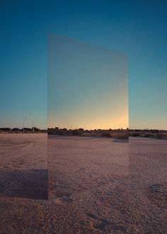 Amazing things can happen when you have a huge mirror to spice up your landscape photos. Flickr user Manu Pastrana employed the technique to create a stunning visual effect.
