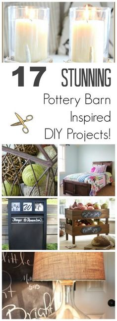 17 Stunning DIY Pottery Barn Decor Projects I love buying home decor accessories and furniture at Pottery Barn, but it's so expensive. Here are some of my top favorite DIY Pottery Barn decor ideas! Diy Décoration, Diy Crafts, Wood Crafts, Painted Furniture, Diy Furniture, Vintage Furniture, Trendy Furniture, Furniture Dolly, Furniture Refinishing