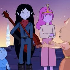 Bubbline, Adventure Time Style, Marceline And Princess Bubblegum, Land Of Ooo, Adventure Time Marceline, Vampire Queen, Cute Anime Character, Reaction Pictures, Beautiful Creatures