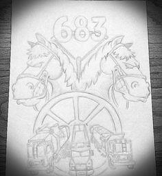 Sketch I drew for a t-shirt idea for WM local 683 SD