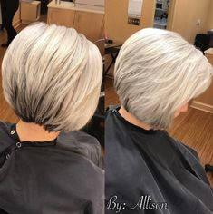 Two-Tone Bob with Feathered Layers