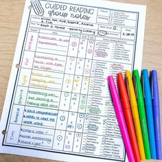 Best guided reading notes I've seen. Guided Reading Lessons, Guided Reading Groups, Reading Notes, Reading Resources, Reading Skills, Teaching Reading, Reading Group Activities, Guided Reading Binder, Reading School