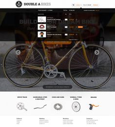 Double A Bikes by Hugo Loning, via #Behance #Webdesign