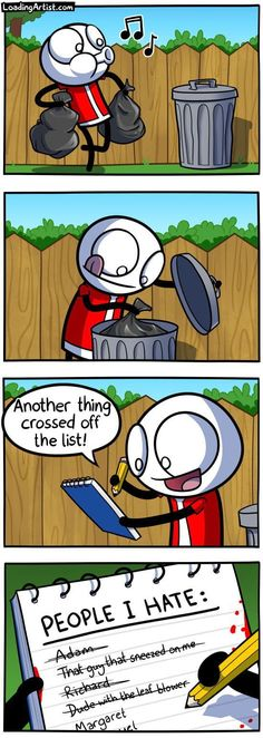 25 Dark and Hilarious Comics by Loading Artist- If you like short funny stories with a hint of darkness then look no more. Stupid Funny Memes, Funny Relatable Memes, Funny Gifs, Memes Humor, Cat Memes, Funny Cartoons, Funny Comics, Theodd1sout Comics, Comic Art