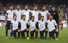Team Italy poses prior to the international friendly match between Italy and France at Stadio San Nicola on September 1, 2016 in Bari, Italy.