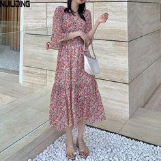 Mori Girl Fashion, Cheap Dresses, Chiffon Dress, Short Sleeve Dresses, Clothes For Women, Floral, Summer, Style, Chiffon Gown