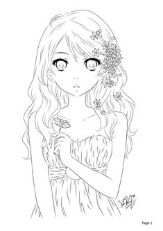 Lineart by Kaiyo-chi on DeviantArt Anime Lineart, Coloring Book Pages, Coloring Sheets, Free Coloring, Coloring Stuff, Halloween Coloring, Manga, Colorful Pictures, Line Art