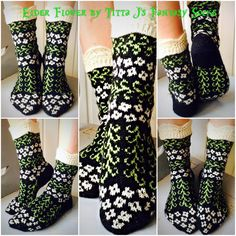 Elder flower -socks by Titta J's Fantasy Socks