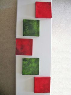 Red and Green Art  Interchangeable Colours  Square by CherubimArts