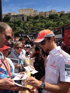 Jenson Button meets fans - 2013 Monaco GP