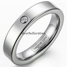 Damen Ring Wolframcarbid hochglanz & matt 4mm breit Partnerring Ehering…