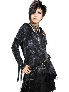Custom DAMAGE ROCK Flare Cutsew Black x White Painting. See more at: http://www.cdjapan.co.jp/apparel/sexpot.html #punk #jrock