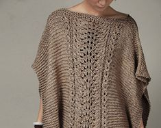 Items similar to Hand knitted Little cotton poncho knit scarf knit shrug in Charcoal on Etsy Knit Shrug, Crochet Poncho, Knitted Shawls, Knit Crochet, Scarf Knit, Sweater Design, Easy Knitting, Shawls And Wraps, Pullover