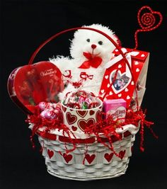 Romantic Valentine's Day Gift Basket for Him